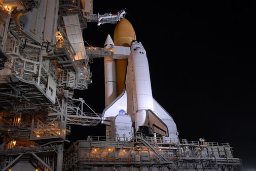 Endeavour gets ready for a trip to space.