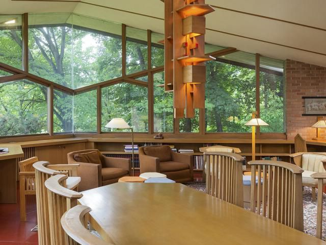 A Minnesota Home Designed By Frank Lloyd Wright Is For