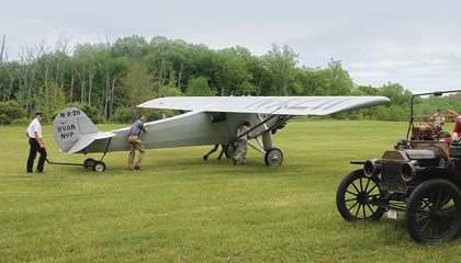 Lindbergh's Airplane (or a Close Replica) Takes to the Skies