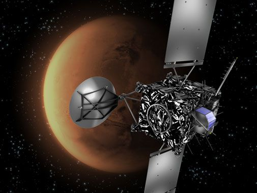 On the way to a comet, a quick look at the Red Planet.