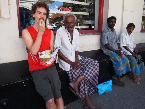 Rob Culclasure passes the time in the best possible way in Kandy, Sri Lanka.