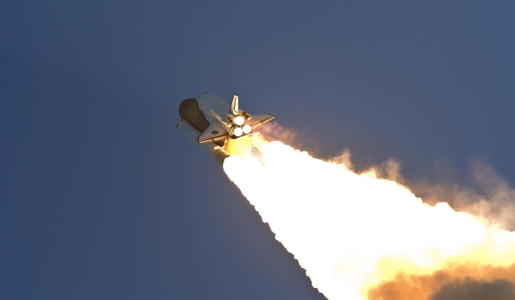 Launch of Discovery on STS-124 in 2008.