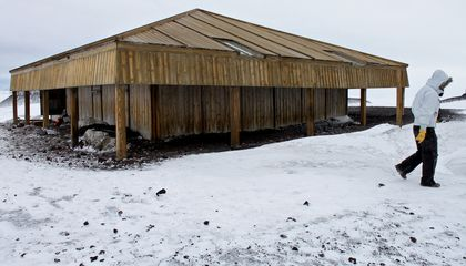 Preserving Antarctic History Means Chipping Out Tons of Ice From Between Floorboards