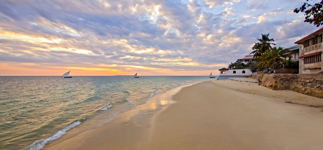 Beautiful beach on Zanzibar