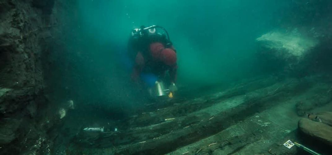 Caption: Ancient Ship Found in Sunken Egyptian City