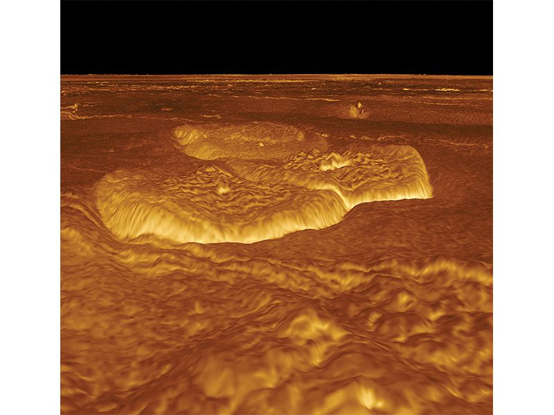 Alpha Regio on Venus