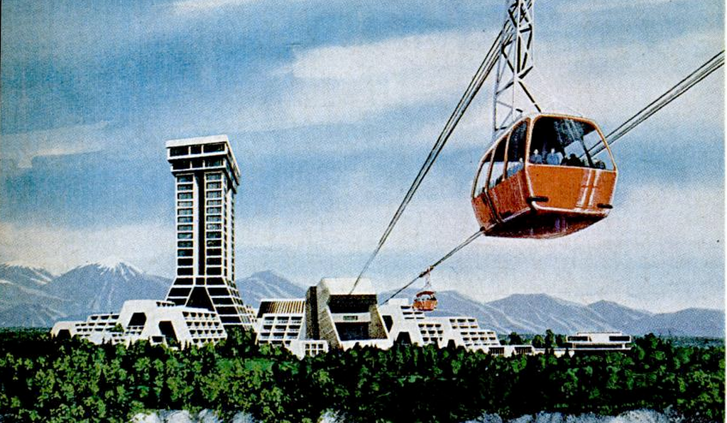 Seward's Success, a proposed city in Alaska, was to be a no-cars-allowed city under glass where everyone rode trams and monorails.