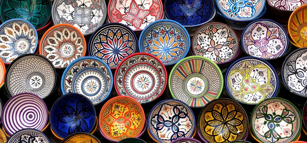 Colorful Moroccan ceramics