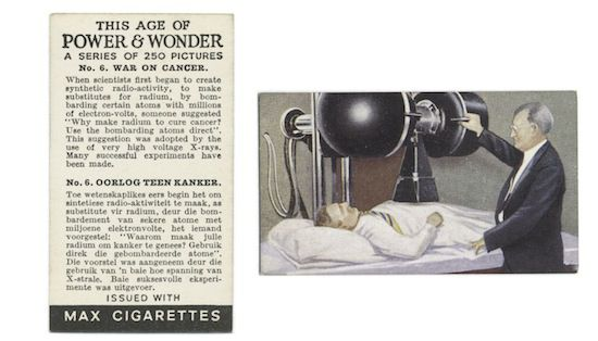 One in a series of 1930s promotional cards for Max Cigarettes