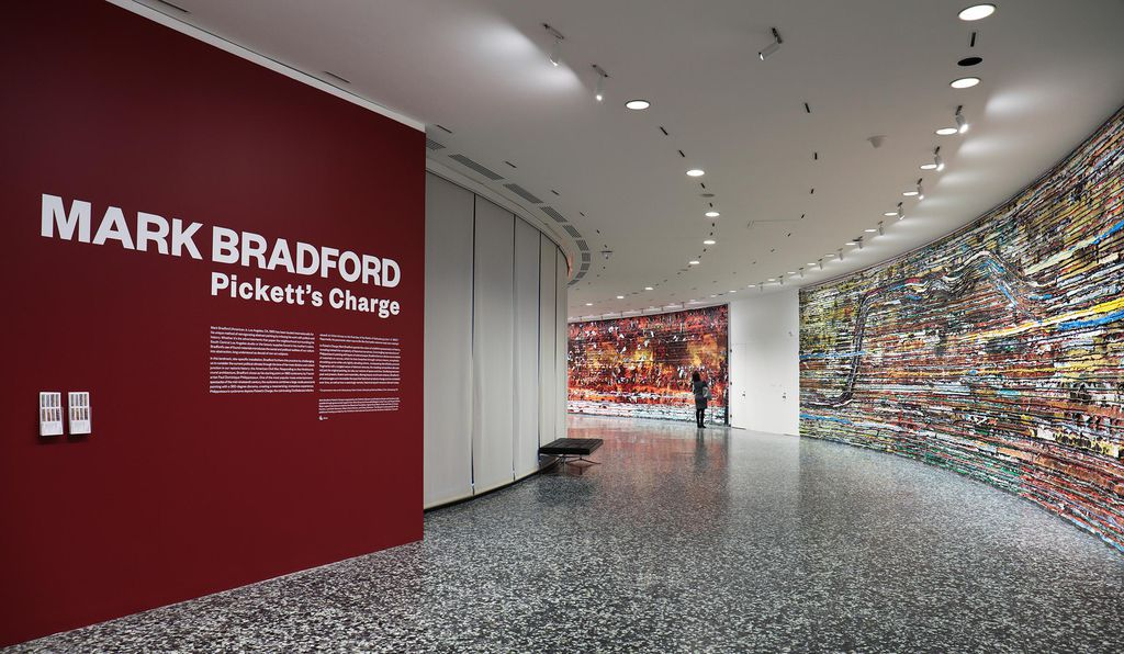 The installation <em>Pickett's Charge</em> spans almost 400 feet and consists of eight canvases measuring 12 feet tall and more than 45 feet long.