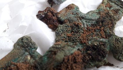 Rare Scraps of Mineralized Anglo-Saxon Textiles Found in England
