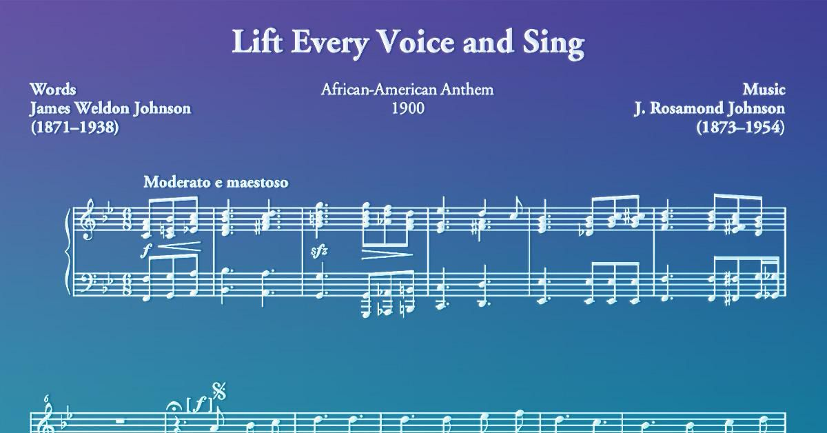 The History Of Lift Every Voice And Sing At The Smithsonian Smithsonian Magazine