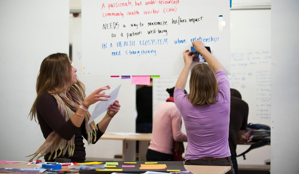 Every surface in the d.school is designed for students to brainstorm.