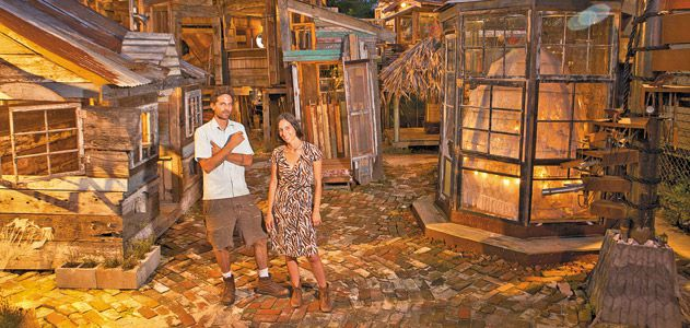 shanties were erected with materials salvaged mainly from an 18th-century Creole cottage