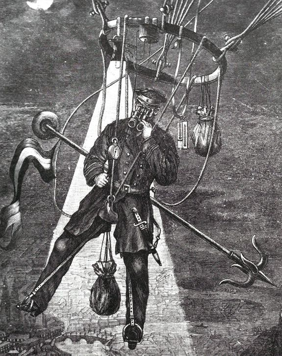 George Rodek's Saddle Balloon (1895)