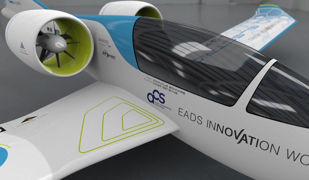 The final version of the all-electric E-Fan will sit pilot and passenger side by side.