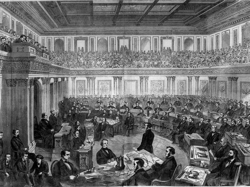 The Senate as a Court of Impeachment for the Trial of Andrew Johnson