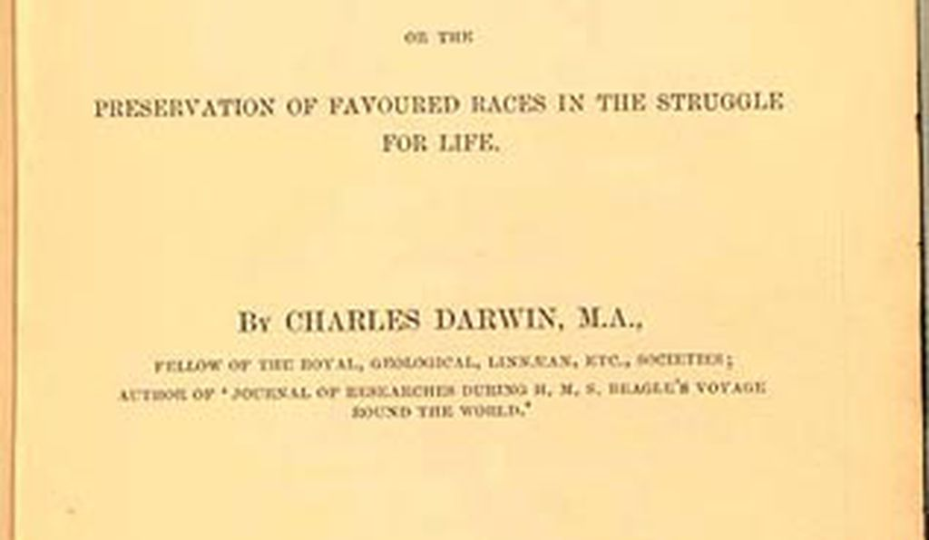 Title page for Charles Darwin's <em>On the Origin of Species</em>