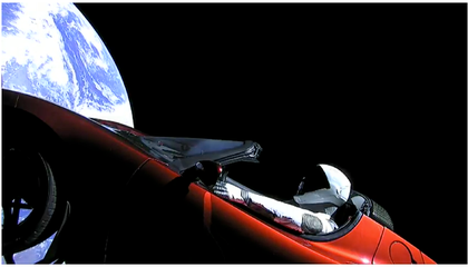 Tesla Roadster Has Six Percent Chance of Crashing to Earth in the Next Million Years