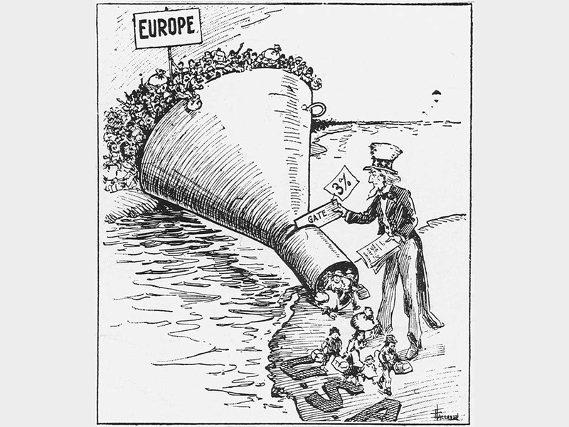 A 1921 political cartoon