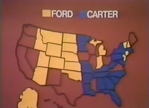 in 1976 abc news used this color scheme for the presidential election youtube this 1980 map from nbc