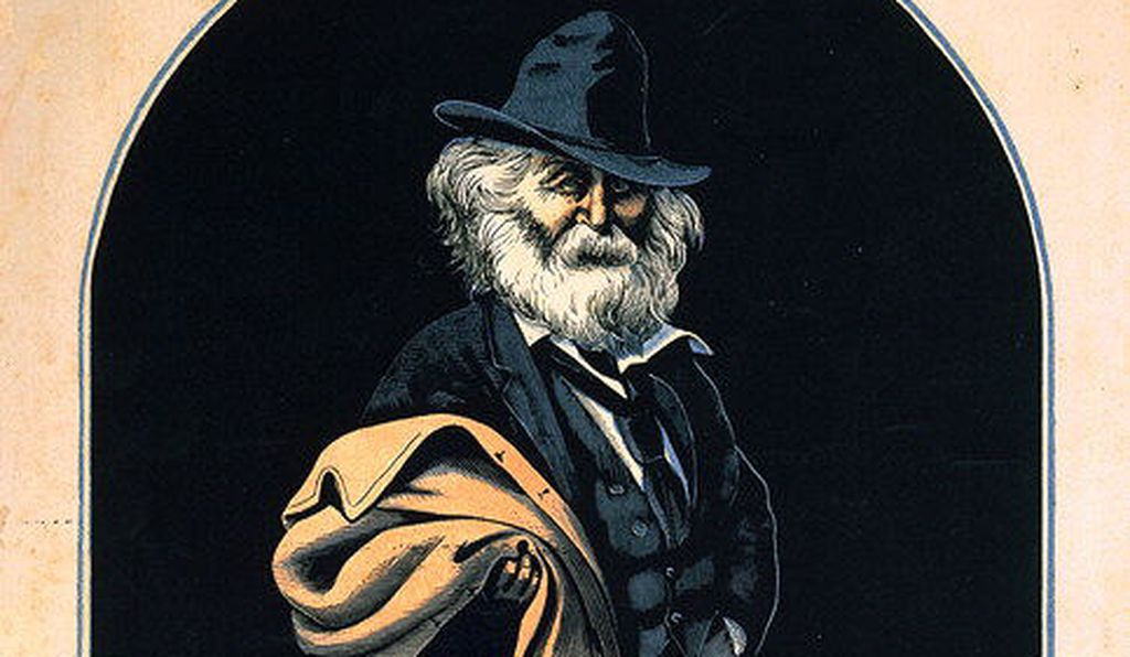 Walt Whitman by Richard Shugg after Frank H. T. Bellew, 1872.