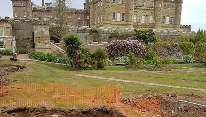 """Lost"" 18th-Century Garden Found at Scottish Castle"