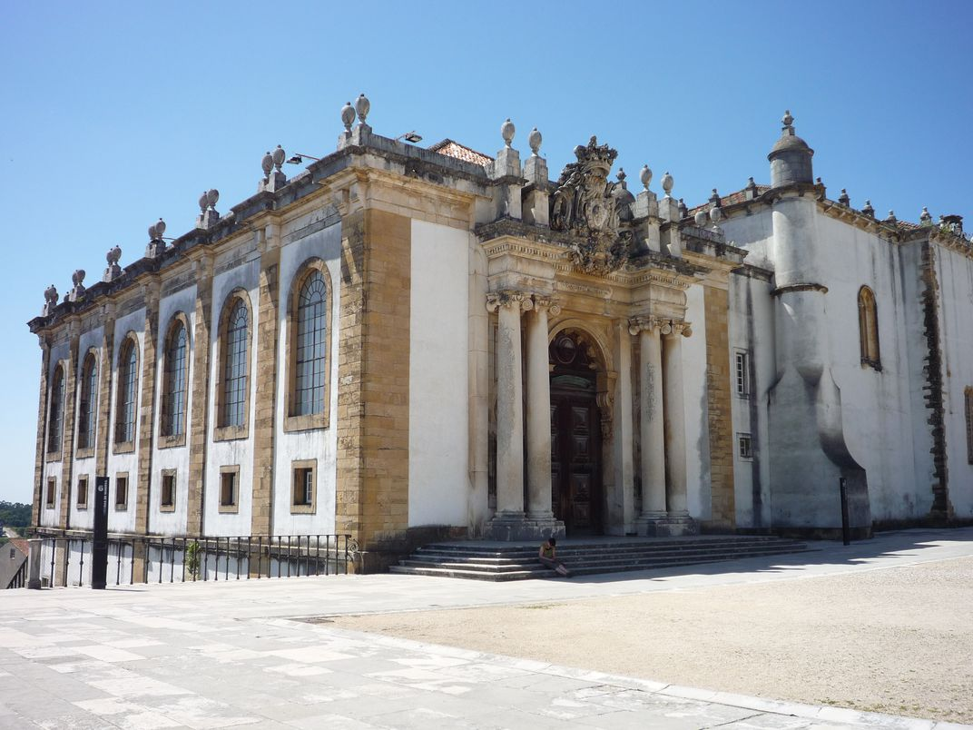 The exterior of the Joanina Library