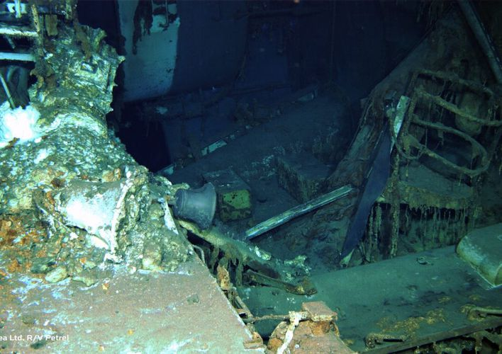 Caption: Wreck of the USS Indianapolis Discovered
