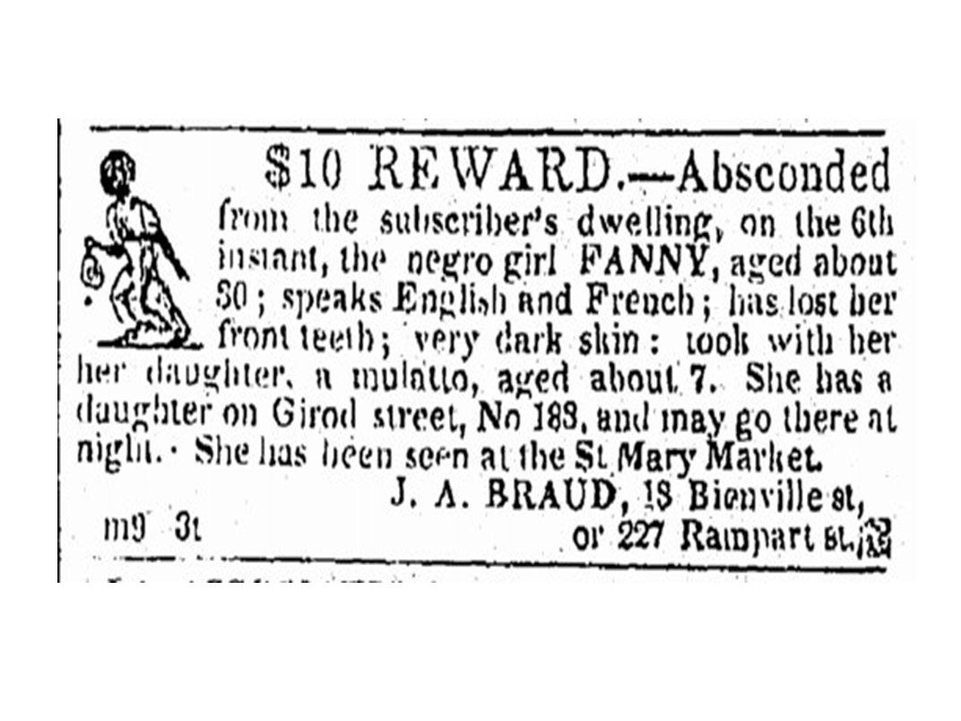 An Archive of Fugitive Slave Ads Sheds New Light on Lost