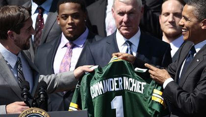 President Barack Obama and Green Bay Packers