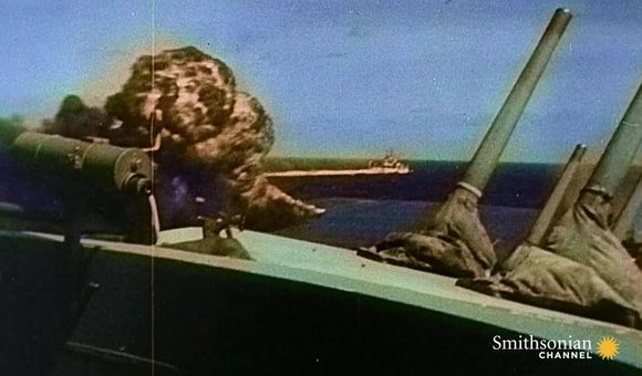 Preview thumbnail for video'Intense Footage of Kamikaze Attacks During WWII