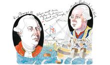 King George III and Lord North British leaders