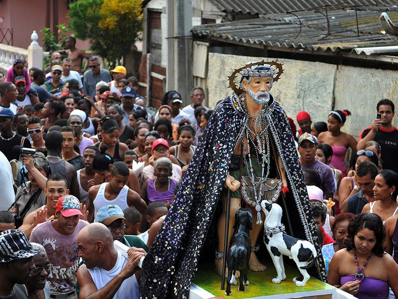 Cuba's Fascinating Babalú-Ayé Procession Honors African and