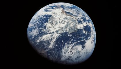 Our First Look Back at Earth