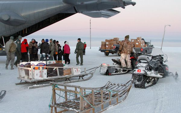 National Guard flies Santa to remote Arctic village