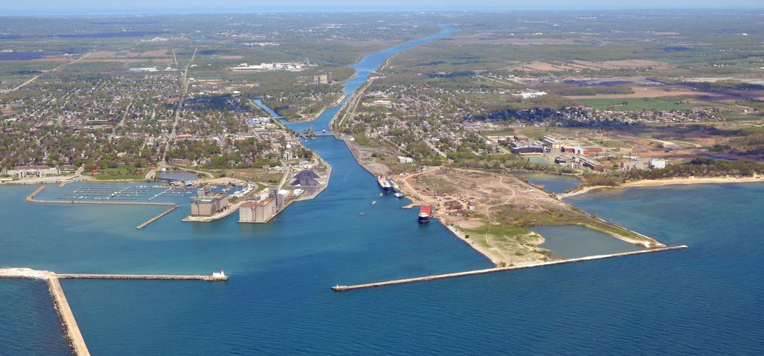 Entering the Welland Canal