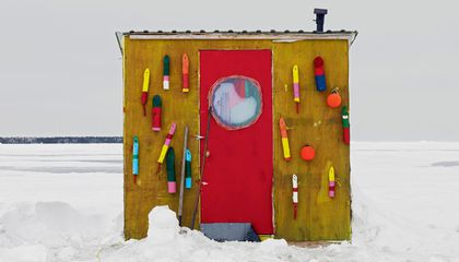 Portraits of Canada's Ice Fishing Huts