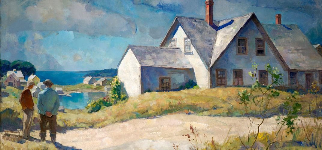 N.C. Wyeth, <i>Morris House</i>. Credit: Farnsworth Art Museum