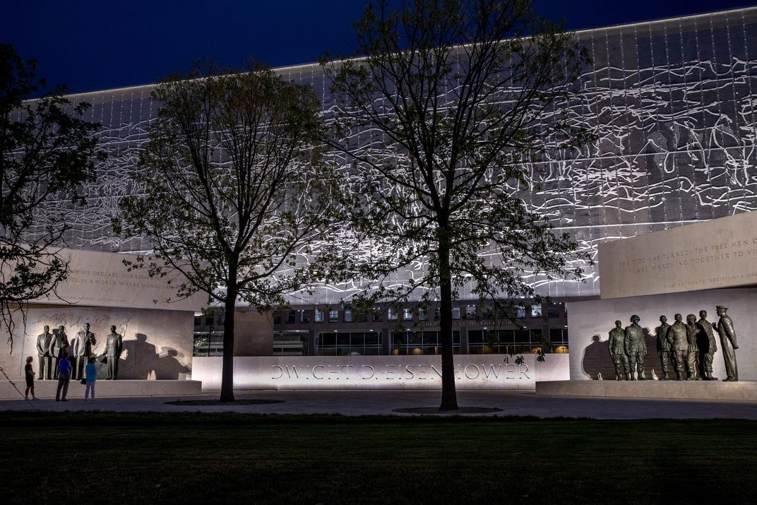 Eisenhower Memorial at night