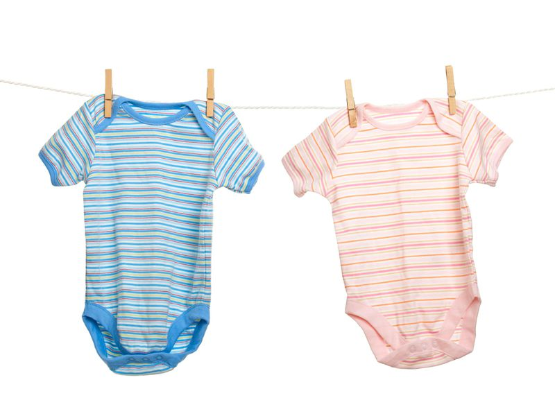 Blue and Pink Baby Clothes