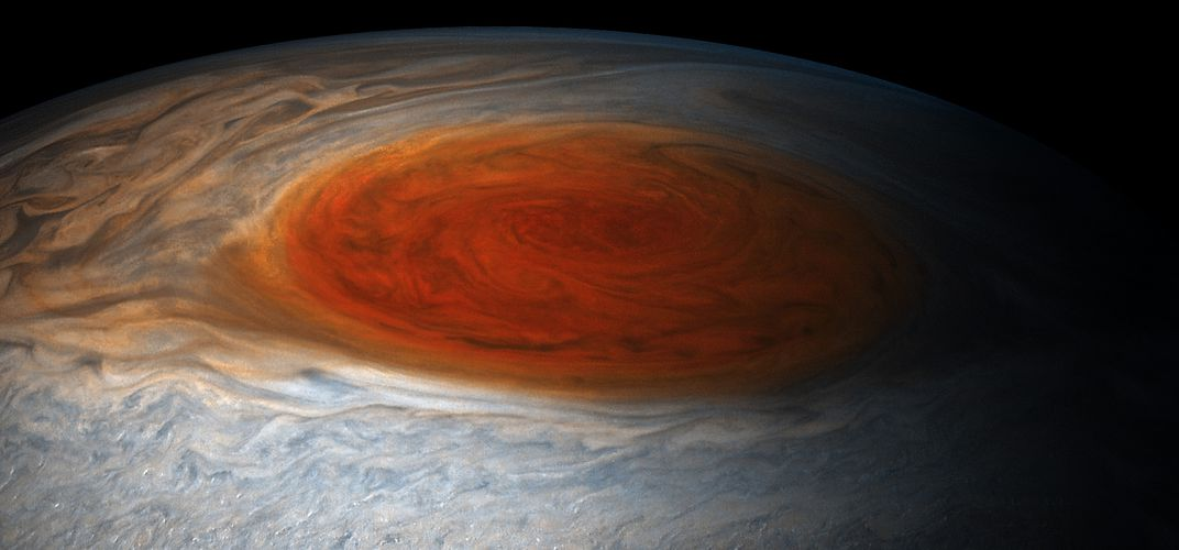 Caption: What Lurks Below Jupiter's Great Red Spot?