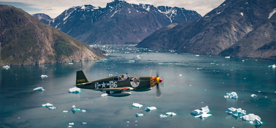 Caption: Crossing the Atlantic in a Mustang