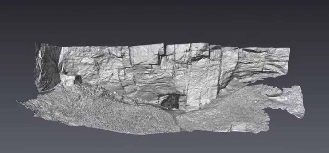 Caption: Explore a 3D Model of Mysterious Pictish Cave