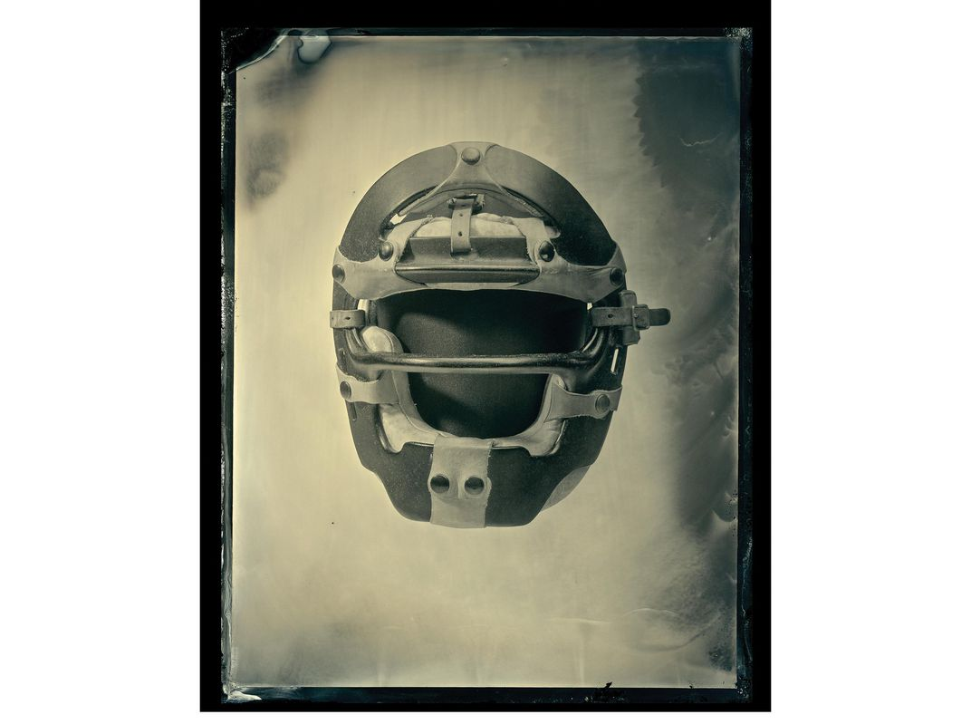 Umpire mask worn by Emmett Ashford, the first African-American umpire in Major League Baseball