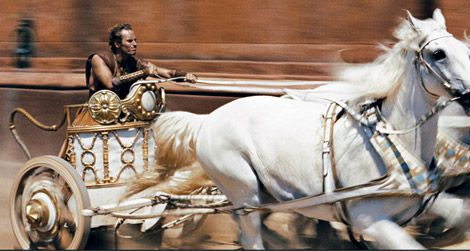 Image result for Ben Hur chariot race