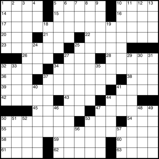Universal Crossword Puzzle