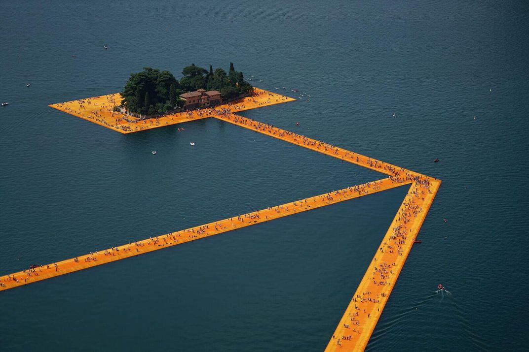 floating water clock the inside story of christos floating piers arts culture