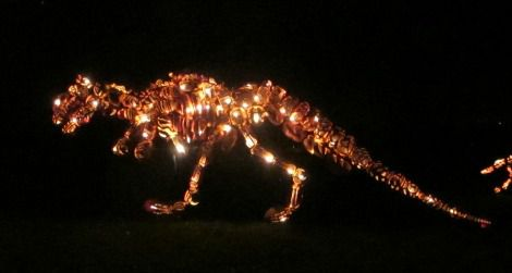 Pumpkin Tyrannosaurus at the Great Jack O' Lantern Blaze