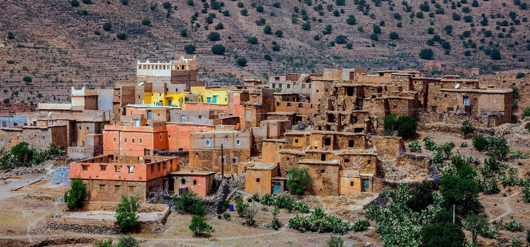 Berber village in the Atlas Mountains